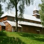 Drewniany kościół w Monkinie zbudowany w latach 1922-1924.
