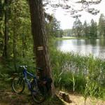 Jezioro Długie Augustowskie. Faktycznie długie, jazda żółtym zaczęła się dłużyć …