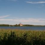 Punkt widokowy w okolicach J. Leszczewek. Widok na klasztor