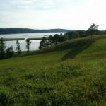 Widoki na jezioro Wigry przed Mikołajewem.