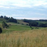 W drodze do Smolnik. Stromy podjazd z pięknymi widokami