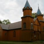 Mikaszówka. Drewniany kościół z 1907 roku.
