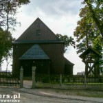 Ścieniska. Drewniany kościół św. Marcina z 1767.