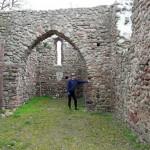 Tuż za Gryżyną znajdują się ruiny kościoła Św. Michała z XIII w