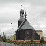 Stary Gołębin. Drewniany kościół