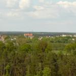 Panorama Osiecznej z wieży widokowej Jagoda
