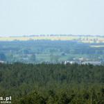 Wzniesienia koło Ujścia z widokiem na dolinę Noteci