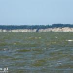 Piaski. Widok z Nowej Pasłęki na drugą stronę zalewu