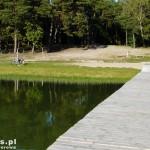 Jezioro Konin. Pusta plaża – pełen relaks
