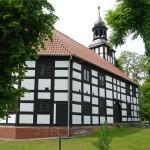 Gorzyca. Kościół szachulcowy z 1736r.