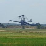 Ogromne maszyny charakterystyczne w krajobrazie turkowskim