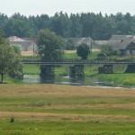 Drewniany most. Widok w stronę Łaś-Toczyłowo