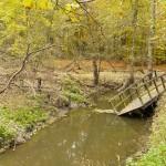 Zerwany mostek na Wirence