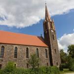 Hohensaaten – ewangelicki kościół, wybudowany w latach 1858-60 w stylu neogotyckim wg projektu Friedricha Augusta Stulera