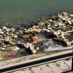 Wypływająca woda termalna to gratka dla bezdomnych