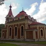 Topólcza. Cerkiew w stylu rosyjsko-bizantyjskim. Obecnie kościół rzymsko-katolicki.