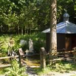 Siedliska. Kapliczka św. Mikołaja posadowiona na palach nad źródełkami z przełomu XIX i XX w