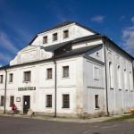Synagoga z końca XVII wieku w Tarnogrodzie. Obecnie przeznaczona na bibliotekę