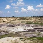 Odkrywkowa kopalnia węgla brunatnego koło Koźmina