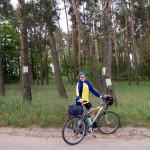 Rozwidlenie szlaków koło Słonina. Nasz szlak znakowany jest na zielono. My pojechaliśmy w lewo – robiąć szlak zgodnie z ruchem wskazówek.