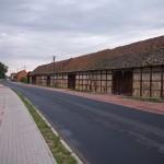 Dubin – zabytkowe szachulcowe stodoły z XIX