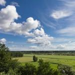 Kamminke, panorama ze wzgórza – widkok na Świnoujście