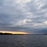 Zachód słońca w Czaplinku nad J. Drawskim