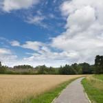 Droga rowerowa, która przecina stara linie kolejową Berlin – Świnoujście