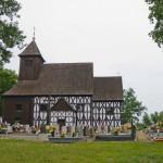Dąbcze. Szachulcowy kościół z 1666-1668r