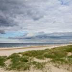 Plaża. Widok na Świnoujście
