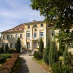 Pałac w Krośnicach wybudowany ok. 1785 roku przez rodzinę Reichenbachów z Goszcza. Jego obecna forma to efekt przebudowy z lat 1927-29