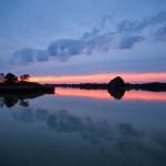 Zachód słońca nad stawami