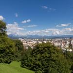 Widok z wzgórza zamkowego
