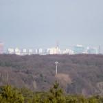 Widok z wieży na Poznań
