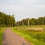 Droga rowerowa wzdłuż linii kolejowej
