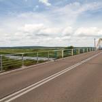 Most na Noteci. W tle wzniesienia, których wysokość przekracza 160 m n.p.m