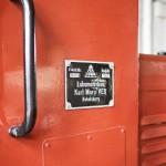 Tabliczka znamionowa niemieckiej lokomotywy