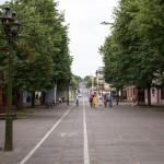 Ulica Wileńska, łączy się dalej z aleją Wolności