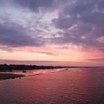 Zachód słońca nad Dźwiną