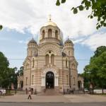 Sobór Narodzenia Pańskiego wznosi się w parku Esplanade, nieopodal Bulwaru Wolności. Sobór jest główną świątynią Łotewskiego Kościoła Prawosławnego
