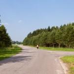 Dookoła wyspy prowadził szlak rowerowy, czasem można było odnaleźć oznakowanie
