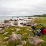 Wybrzeże północnej części wyspy  – wielkie głazy i trawy