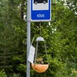 Przystanek autobusowy z kwietnikiem
