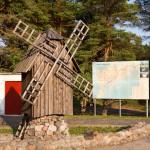 Jesteśmy już na Saaremaa. Wiatrak jest symbolem wyspy