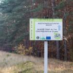 Po drodze minąłem tablice z mapą i znaki dla rowerzystów