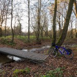 Mostek przez strugę na NSR