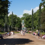 Pomnik J. L. Runeberga fińskiego poety romantycznego tworzącego w języku Szwedzkim, autor hymnu narodowego Finlandii Maamme