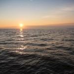 Zachód słońca w Tallinie