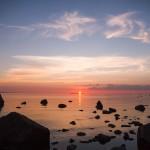 Zachód słońca nad zatoką Käsmu