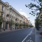 Prospekt Giedymina ciągnie się od rz. Wilii do Placu Katedralnego